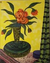 Georges FUSTIER - Peinture - bouquet fleurs