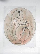 Max ERNST - Grabado - A l'intérieur de la vue : l'oeuf