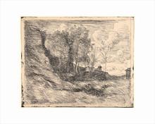 Camille Jean-Baptiste COROT - Estampe-Multiple - Souvenir d'Ostie