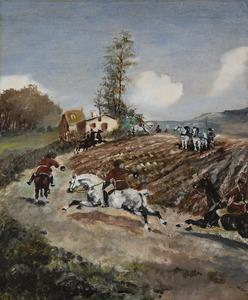 Henri DE TOULOUSE-LAUTREC - Peinture - Chasse à courre
