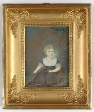 "Anton EINSLE (Attrib.) - Drawing-Watercolor - ""Little girl"" portrait miniature, ca. 1800"