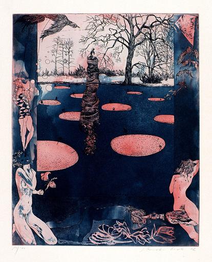 Sabine FRANEK-KOCH - Estampe-Multiple - The Estoric Garden I