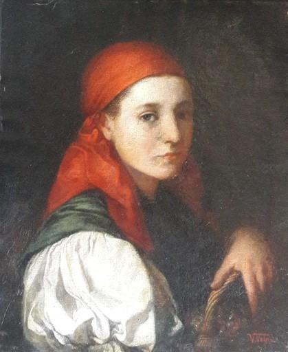 Vincenzo VOLPE - Painting - Profilo di donna