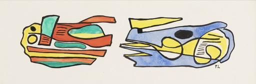Fernand LÉGER - Dessin-Aquarelle - Fresque pour l'université de Caracas
