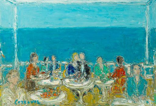 André COTTAVOZ - Pittura - Le Restaurant devant la mer