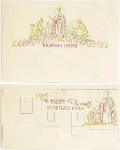"Franz BILKO - Dessin-Aquarelle - ""Two Poster Designs"", 1920s"