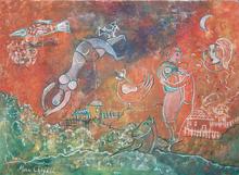 Marc CHAGALL - Peinture - Exspressionist painting