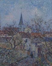Gustave LOISEAU - Painting - L'église de Bennecourt