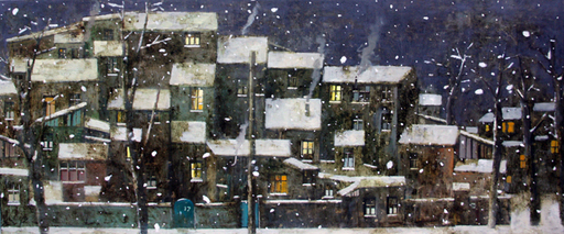 Zurab GIKASHVILI - Pittura - Christmas night