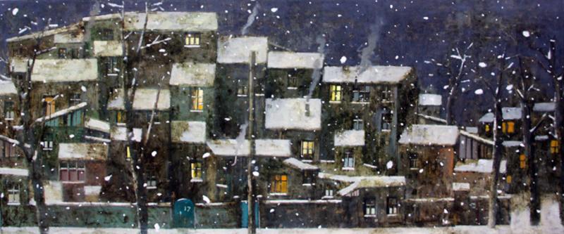 Zurab GIKASHVILI - Pintura - Christmas night