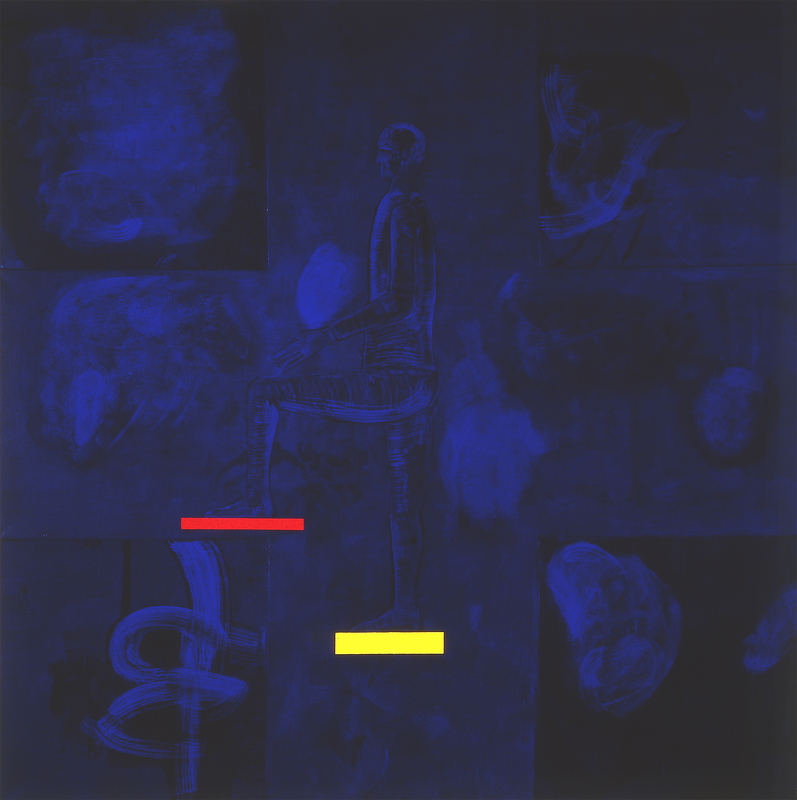 Mimmo PALADINO - Painting - Il Principio della Prospettiva (painting)