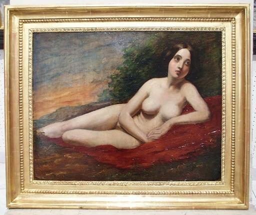"""William ETTY (Attrib.) - Peinture - """"Female Nude in Landscape"""", Oil Painting"""