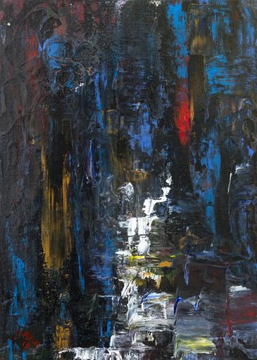 Danielle MAILLET-VILA - Painting - Fontaine