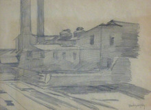László Báró MEDNYANSZKY - Drawing-Watercolor - Factory