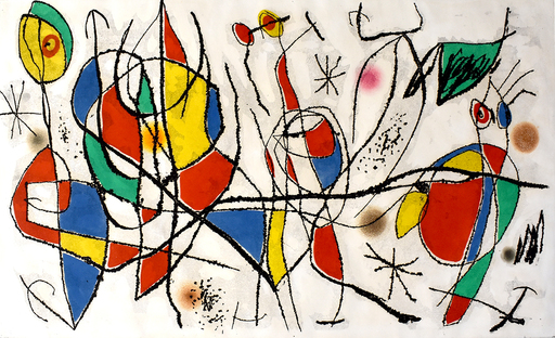 Joan MIRO - Stampa-Multiplo - The Sunday Guest I