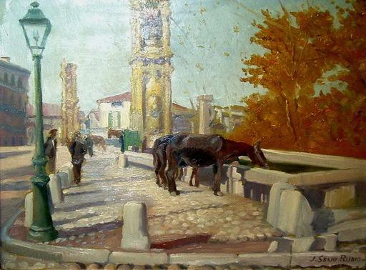 José SEIJO RUBIO - Pintura - mulas