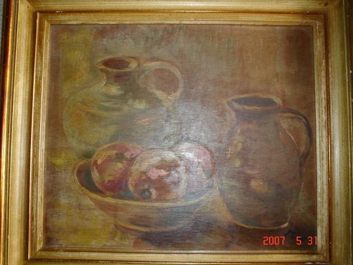 Karl MOOR (Attrib.) - Pintura - pommes et pots