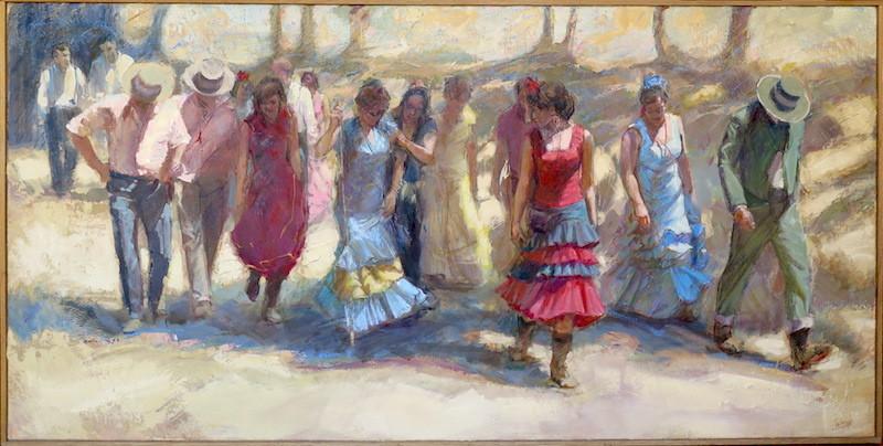 Jean Bernard LALANNE - Pittura - Camino Rocio