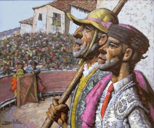 Jésus VILLAR - Painting - Toreros