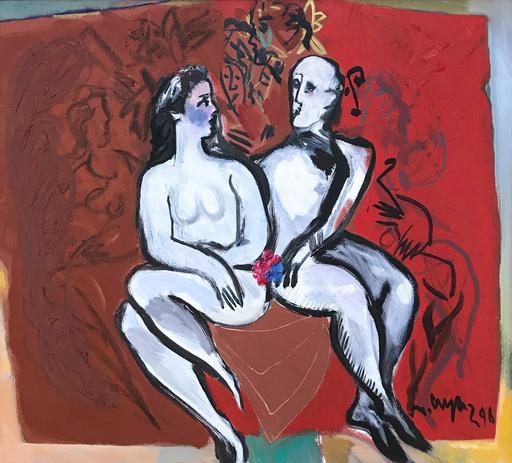 Mustafa AYAZ - Pintura - SIDE BY SIDE