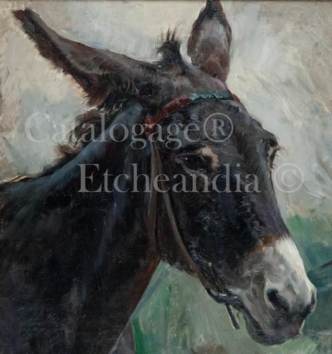 Ulpiano CHECA Y SANZ - Painting - Âne- Burro