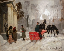 Alessio ISSUPOFF - Painting - Waiting for the wedding