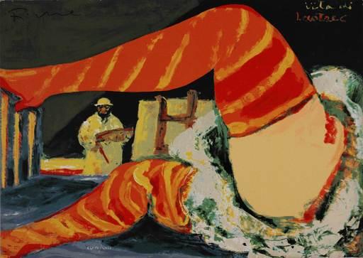 Salvatore FIUME - Estampe-Multiple - Vita di Lautrec