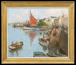 William Lee HANKEY - Painting - On the Brittany Coast