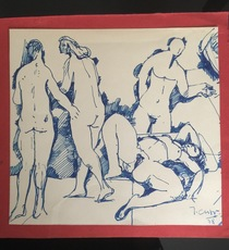 Jean Georges CHAPE - Drawing-Watercolor - Odalisques