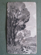Henri Joseph HARPIGNIES - Drawing-Watercolor - ROUTE ERN SOUS BOIS 1904
