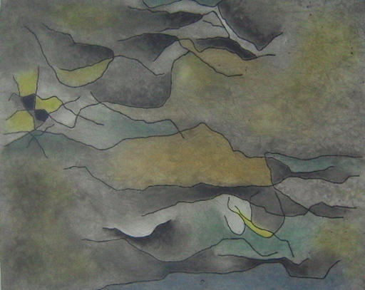 Gustave SINGIER - Grabado - Sable et eau