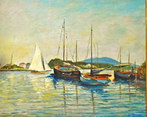 Glenn Franklin BASTIAN - Pintura - Paysage marin, bateaux.