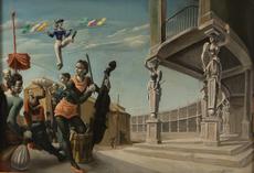 Mariano ANDREU ESTRANY - Painting - Musicos en un anfiteatro