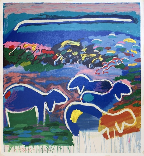 Menashe KADISHMAN - Print-Multiple - A Flock of Sheep