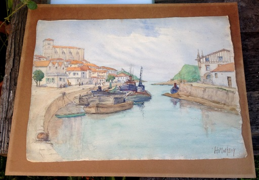 Henry MALFROY - Drawing-Watercolor