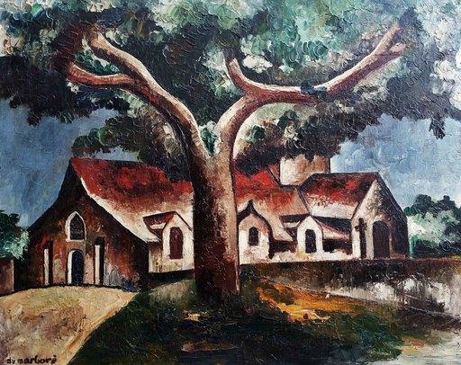 Jean DU MARBORÉ - Pintura - L'église