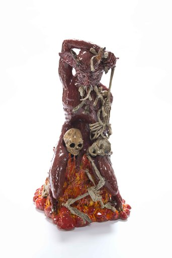 Carolein SMIT - Céramique - Skeleton munching devil