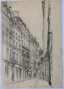 Andor SZÉKELY VON DOBA - Dibujo Acuarela - LOGIS ROMANTIQUES 7 : rue du Dragon