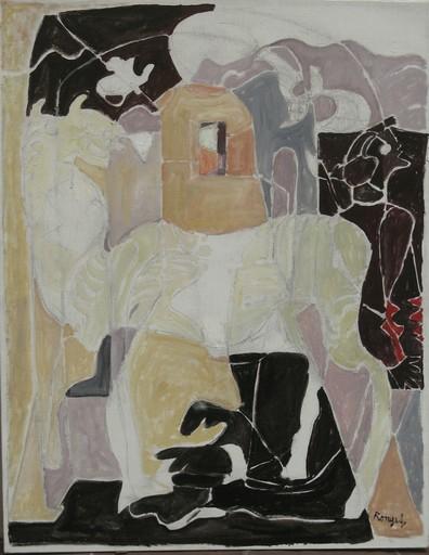 Elisabeth RONGET - Pintura - LE CHAMEAU ET SON MAÎTRE
