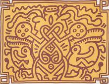 Keith HARING (1958-1990) - Chocolate Buddha 4