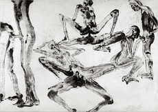 Miquel BARCELO - Print-Multiple - Lanzarote 27 Serie Pornografica I