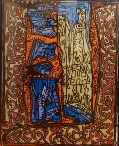 贡巴斯 - 绘画 - MONDECHICHOURLE CHEVALIER A TETE DE SERIEUX N° ARCHIVES 44