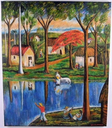Victor MANUEL - Painting - No Title
