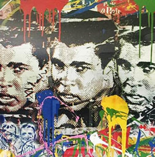 MR BRAINWASH - Pittura - Legend Forever (Muhammad Ali)