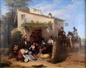 Joaquín DOMINGUEZ BÉCQUER - Gemälde - The Picnic