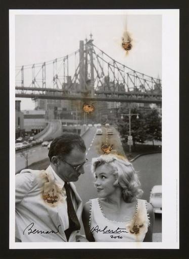 Bernard AUBERTIN - Pintura - Arthur Miller e Marilyn brulés