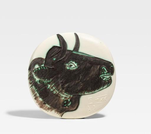Pablo PICASSO - Ceramic - Profil de taureau