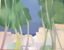 Freddy DEFOSSEZ - Painting - Les arbres mauves