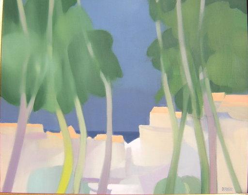 Freddy DEFOSSEZ - 绘画 - Les arbres mauves