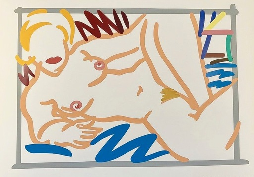 Tom WESSELMANN - Print-Multiple - Judy on Blue Blanket